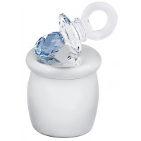 GTS101   Blue Swarovski Crystal Pacifier Tooth Fairy Box Sterling Silver Ari D Norman