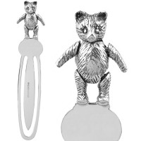 GT1021   Moveable Teddy Bear Bookmark Sterling Silver Ari D Norman