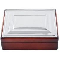 GT2262   Mahogany Finish Trinket Keepsake Box Sterling Silver Ari D Norman