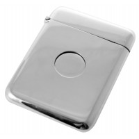 GT2103 Plain Push Button Card Case Sterling Silver Ari D Norman