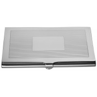 GT954   Striped Card Case Sterling Silver Ari D Norman