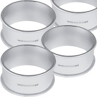 BOX67   Plain Round Napkin Ring Set Sterling Silver Ari D Norman