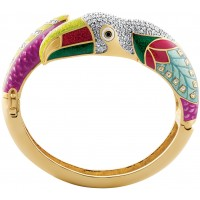 JBE18 - Gold plated toucan bangle