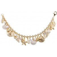 JBT21   Sea Shell Charm Bracelet Jewelari of London