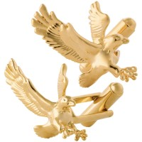 JCU19   Gold Plated Eagle Cufflinks Jewelari of London