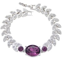 TC1   Rhodium Plated Crystal Set Bracelet Jewelari of London