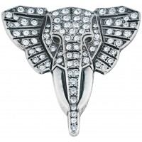 B309   Elephant Brooch Sterling Silver Ari D Norman