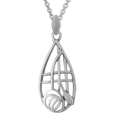 NK582   Mackintosh Style Pendant and Chain Sterling Silver Ari D Norman