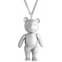 PT433 - Sterling silver moving teddy bear pendant on chain