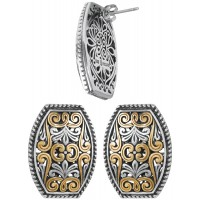 EA620   Gold Plated Filigree Earrings Sterling Silver Ari D Norman