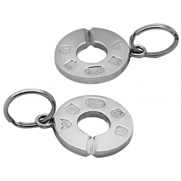 K2000   Two Part Key Ring Sterling Silver Ari D Norman