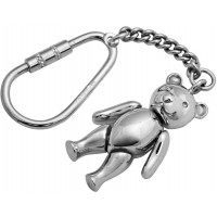 KPT433   Small Movable Teddy Bear Keyring Sterlng Silver Ari D Norman