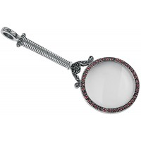 GT31   Victorian Magnifying Glass Sterling Silver Ari D Norman