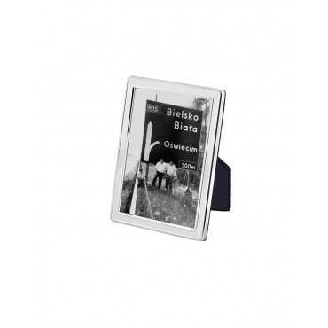 FR541   Beaded Photo Frame With Velvet Back 6cm x 9cm Sterling Silver Ari D Norman