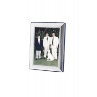 FR550   Egg And Bead Photo Frame With Velvet Back 6cm x 9cm Sterling Silver Ari D Norman
