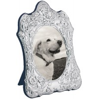 FR754   Victorian Style Photo Frame With Velvet Back 9cm x 11cm Sterling Silver Ari D Norman