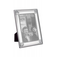 FR710   Shell And Bead Photo Frame With Wooden Back 9cm x 13cm Sterling Silver Ari D Norman
