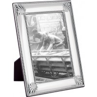 FR713   Shell And Bead Photo Frame With Wooden Back 20cm x 25cm Sterling Silver Ari D Norman