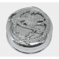 PB535   Ari D Norman Sterling Silver Dragon Pill Box