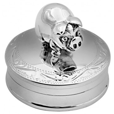 PB527   Ari D Norman Sterling Silver Pig Pill Box