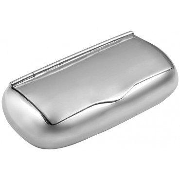 PB452   Ari D Norman Sterling Silver Plain Pill Box / Snuffbox