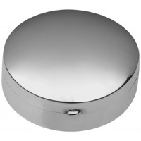 PB406   Ari D Norman Sterling Silver Medium Plain Round Hinged Pill Box