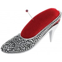 GT2275   Marcasite Set Shoe Pin Cushion Sterling Silver Ari D Norman