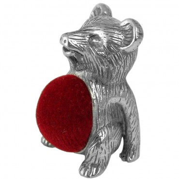 GT521 Teddy Bear Pin Cushion Sterling Silver Ari D Norman