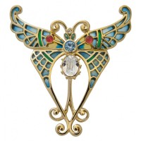 JB237   Gold Plated Butterfly Brooch Jewelari of London