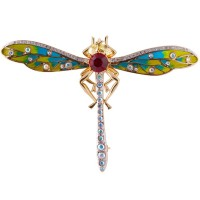JB3   Dragonfly Brooch Gold Plated Jewelari of London