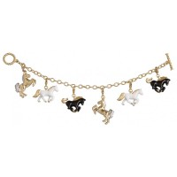 JBT26   Gold Plated Equestrian Charm Bracelet Jewelari of London