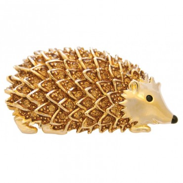 JB250   Gold Plated Hedgehog Brooch Jewelari of London