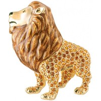 JB190   Gold Plated Lion Brooch Jewelari of London
