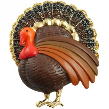 JB19   Gold Plated Turkey Brooch Jewelari of London