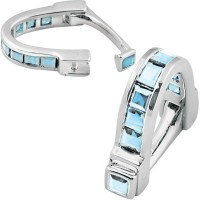 CU451 Ari D Norman Sterling Silver Blue Topaz Wrap Around Cufflinks